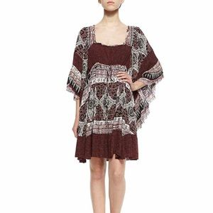 NWT Free People heart of gold mini dress scarlet